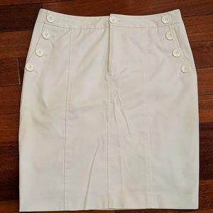 Club Monaco White Pencil Skirt